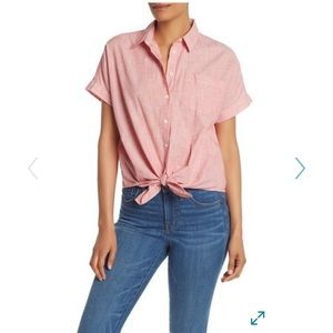 Madewell End in End Tie Front Button T-shirt